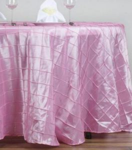 Pintuck Baby Pink Table Cloths