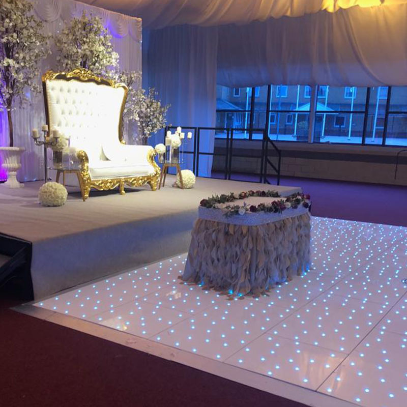 LED lights wedding dance floor