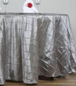 Pintuck Silver table cloths