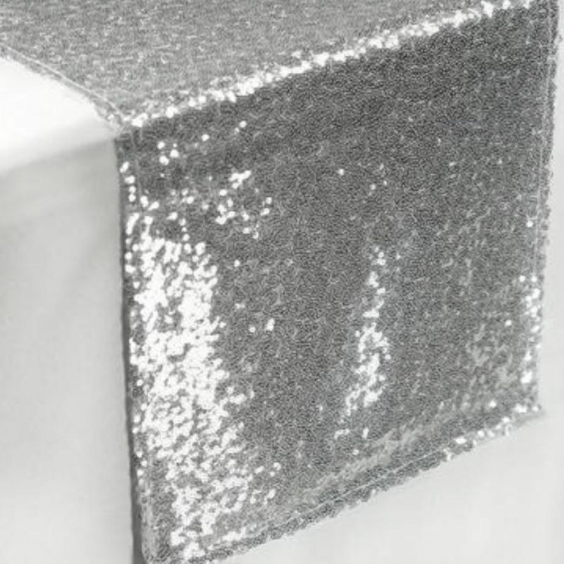 Sequin Silver table runners
