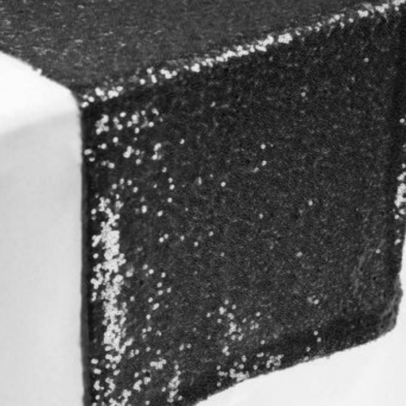Sequin Black table runners