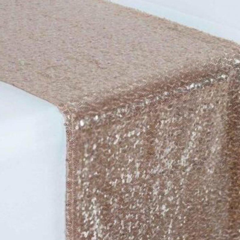 Sequin Blush table runners